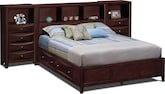 Bedroom Furniture-Kensington Queen Wall Bed with Piers