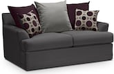 Living Room Furniture-Berkeley Pewter Loveseat