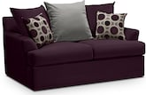 Living Room Furniture-Berkeley Plum Loveseat