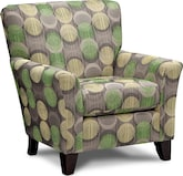 Living Room Furniture-Orleans Gray Accent Chair