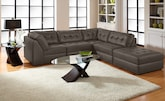 Living Room Furniture-The Largo Gray Collection-Largo Gray 5-Piece Sectional