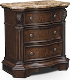 Bedroom Furniture-Monticello Pecan Nightstand