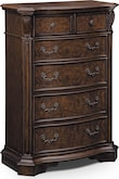Bedroom Furniture-Lafayette Pecan Chest