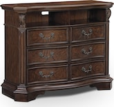 Bedroom Furniture-Lafayette Pecan Media Chest
