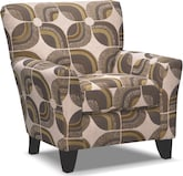 Living Room Furniture-Orleans Cream Accent Chair