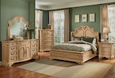 Bedroom Furniture-The Lafayette Almond Collection-Lafayette Almond Dresser & Mirror