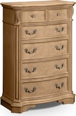 Bedroom Furniture-Lafayette Almond Chest