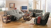 Living Room Furniture-The Putnam Steel Collection-Putnam Steel Dual Reclining Sofa
