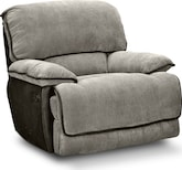 Living Room Furniture-Putnam Steel Glider Recliner