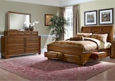 Bedroom Furniture-Hereford 5 Pc. Queen Storage Bedroom