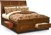 Bedroom Furniture-Hereford Queen Storage Bed