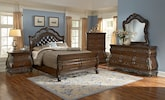 Bedroom Furniture-The Velasquez Burl Collection-Velasquez Burl Queen Bed