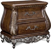 Bedroom Furniture-Velasquez Burl Nightstand