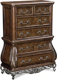 Bedroom Furniture-Velasquez Burl Chest