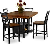 Dining Room Furniture-Memphis 5 Pc. Counter-Height Dinette