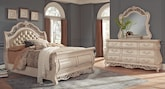 Bedroom Furniture-Velasquez Linen 5 Pc. King Bedroom