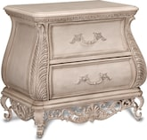 Bedroom Furniture-Velasquez Linen Nightstand