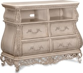 Bedroom Furniture-Velasquez Linen Media Chest