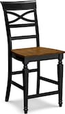 Dining Room Furniture-Sophie Black Counter-Height Stool