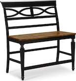 Dining Room Furniture-Sophie Black Counter-Height Bench
