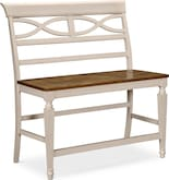 Dining Room Furniture-Sophie Cream Counter-Height Bench