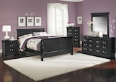 Bedroom Furniture-The Avignon Black Collection-Avignon Black Queen Bed