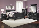 Bedroom Furniture-Avignon Black 7 Pc. Queen Bedroom