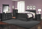 Kids Furniture-The Avignon II Black Collection-Avignon II Black Twin Bed