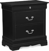 Kids Furniture-Avignon Black Nightstand