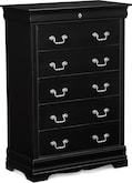 Kids Furniture-Avignon Black Chest