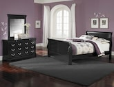Kids Furniture-Avignon II Black 5 Pc. Full Bedroom