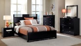 Bedroom Furniture-The Kendall Espresso Collection-Kendall Espresso Queen Bed