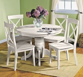 Plantation Cove White 5 Pc. Dinette Only $399 - Furniture.com