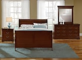Kids Furniture-The Avignon II Cherry Collection-Avignon II Cherry Twin Bed