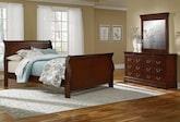 Bedroom Furniture-Avignon Cherry 5 Pc. King Bedroom
