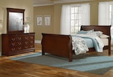 Kids Furniture-Avignon II Cherry 5 Pc. Full Bedroom
