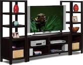 Entertainment Furniture-Keene 3 Pc. Entertainment Wall Unit