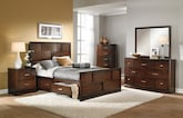 Bedroom Furniture-The Claremont Collection-Claremont Queen Storage Bed