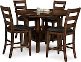Dining Room Furniture-Morales 5 Pc. Counter-Height Dinette