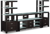 Entertainment Furniture-Coopersville 3 Pc. Entertainment Wall Unit