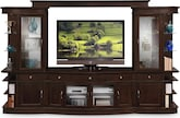 Entertainment Furniture-The Greenbriar Collection-Greenbriar 4 Pc. Entertainment Wall Unit