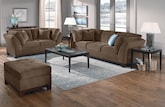 Living Room Furniture-The Solace Cocoa Collection-Solace Cocoa Sofa