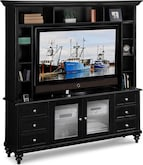 Entertainment Furniture-The Hobson Collection-Hobson 2 Pc. Entertainment Wall Unit