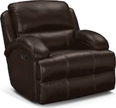 Living Room Furniture-Easton Chocolate Glider Recliner