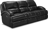 Living Room Furniture-Easton Black Dual Reclining Sofa