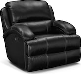 Living Room Furniture-Easton Black Glider Recliner