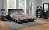 Bedroom Furniture-The Prima Black Collection-Prima Black Queen Bed