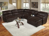 Living Room Furniture-The St. Malo Collection-St. Malo 6 Pc. Power Reclining Sectional