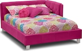 Kids Furniture-Taylor Pink Full Corner Bed