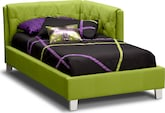 Kids Furniture-Taylor Green Twin Corner Bed
